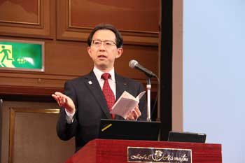 Photo:Mr. Masao Uchibori (Governor of Fukushima Prefecture)