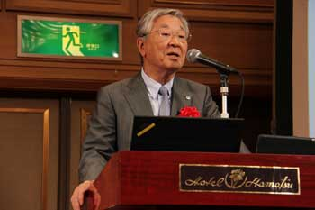 Photo:Mr. Hiroaki Nakanishi (Chairman & CEO, Hitachi, Ltd.)
