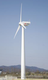 Research wind turbine Komaihaltec Inc. KWT300