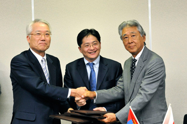 MOUs on research cooperation in geological survey and mineral resource fields with Mongolia photo