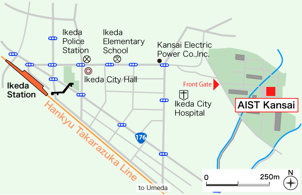 AIST Kansai Map Image