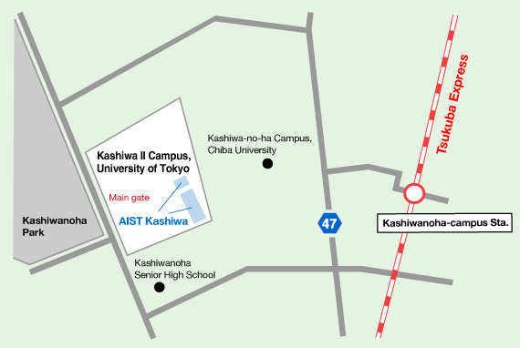 AIST Kashiwa Area Map Image