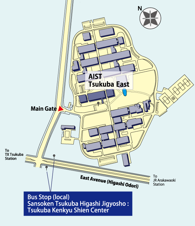 AIST Tsukuba West Guide Map