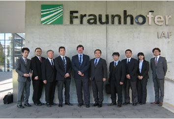Photo:Visiting Fraunhofer Institute for Applied Solid State Physics (IAF)