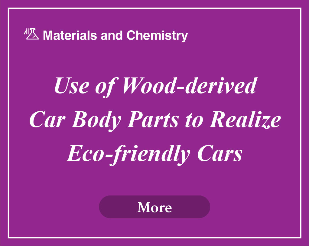 Use of Wood-derived Car Body Parts to Realize Eco-friendly Cars