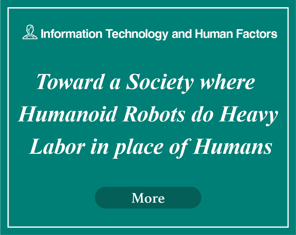 Toward a Society where Humanoid Robots do Heavy Labor in place of Humans