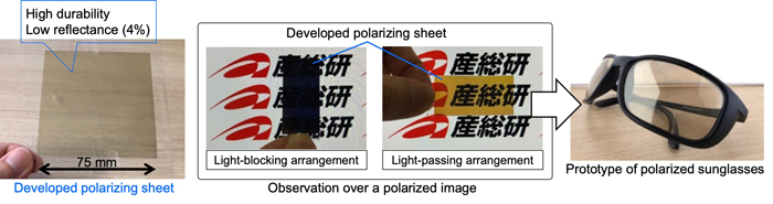 Figure: The developed  polarizing sheet
