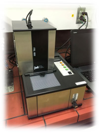 フーリエ変換型スペクトロメーター(上島製作所製)の写真