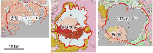 赤穂コールドロンと第四紀カルデラ(阿蘇、姶良)の... 産総研:赤穂市は恐竜時代のカルデラの中に